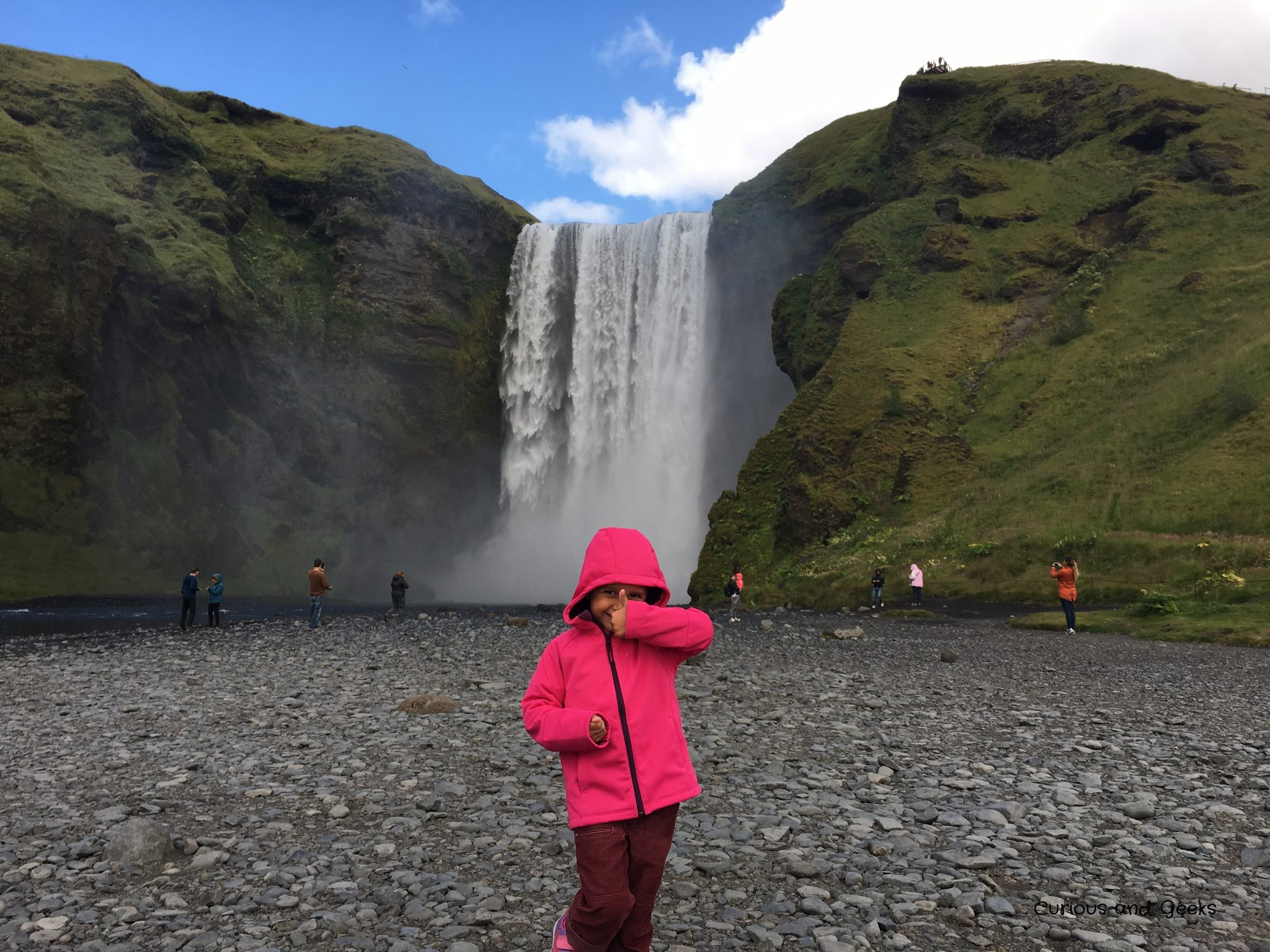 Day 2 Skogafoss - Iceland with kids: 9 day road trip itinerary around the ring road