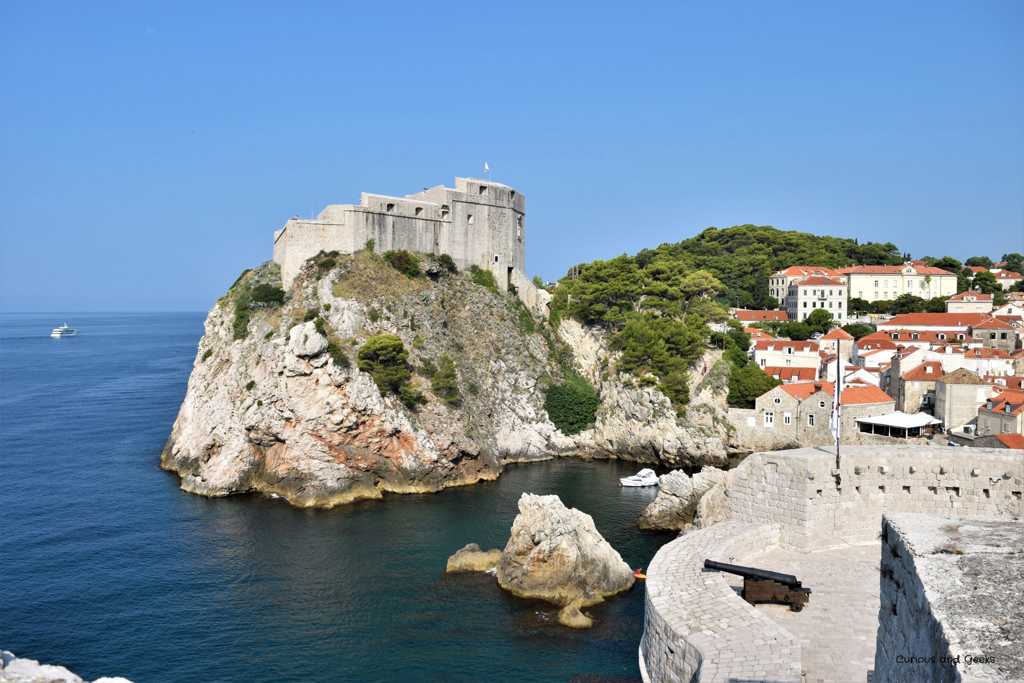 View from the city walls in DUbrovnik - filming location for s02e08 of Game of Thrones