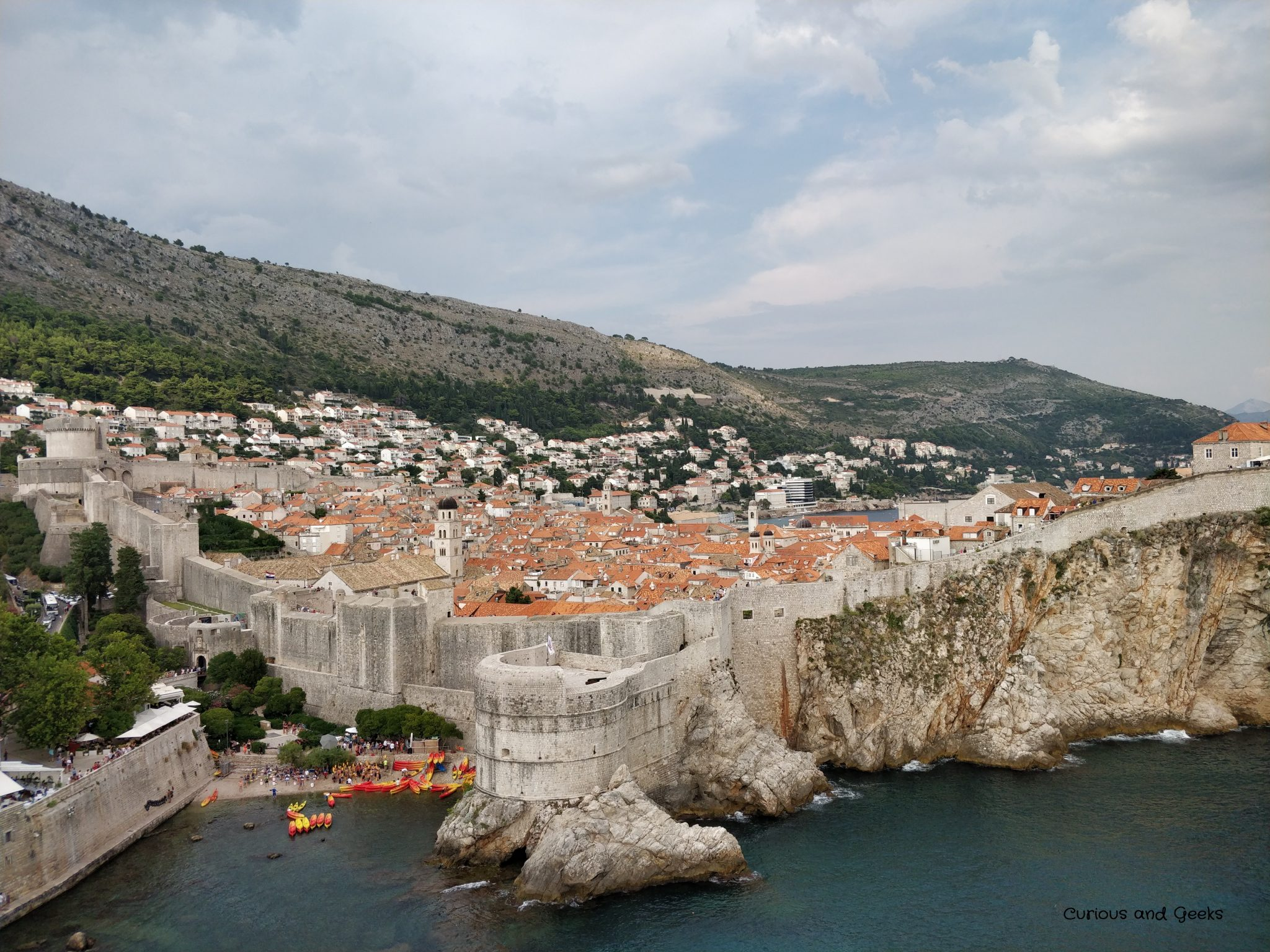 View from Lovrijenac of Dubrovnik - King's Landing in Game of Thrones