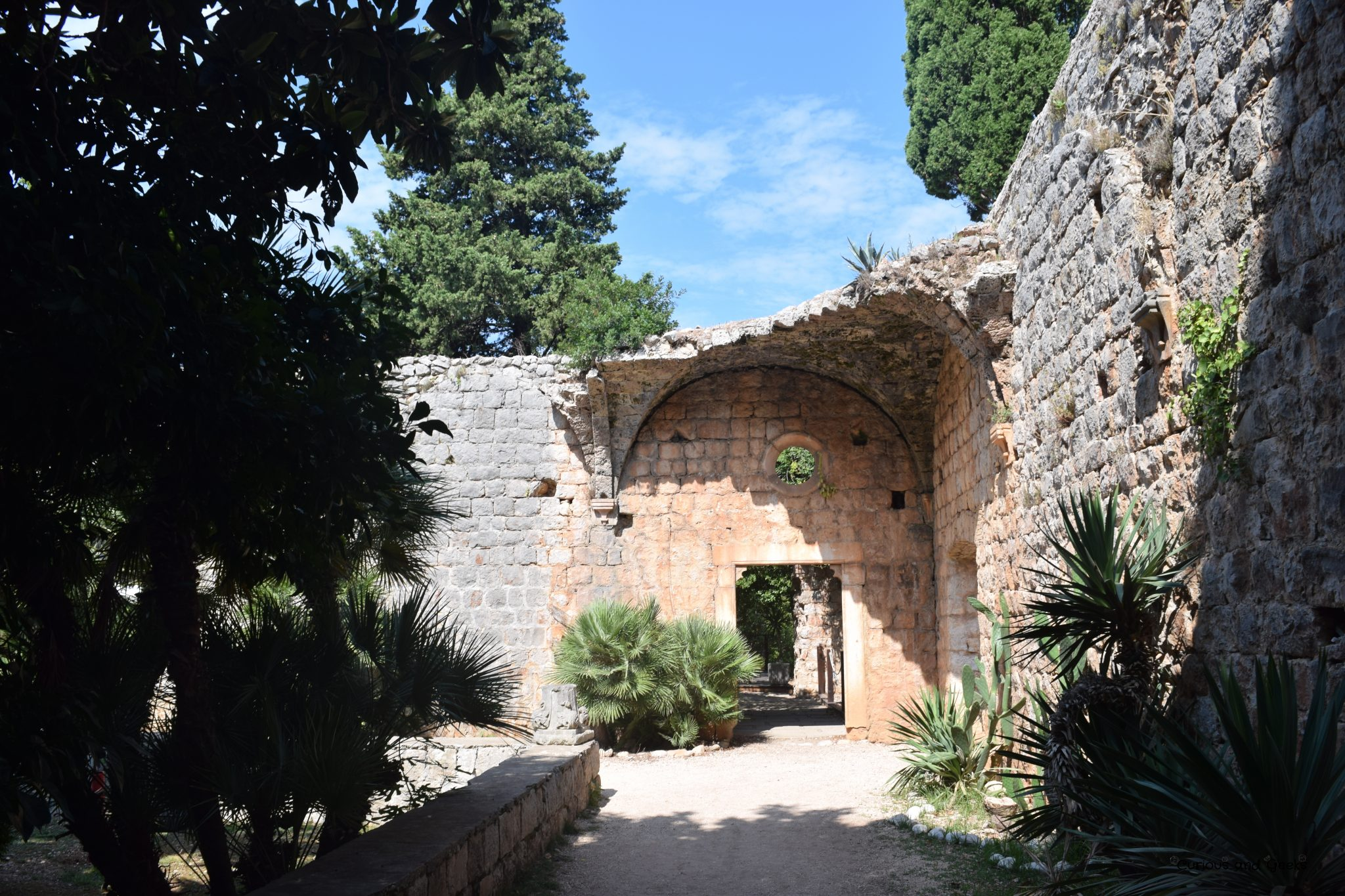 Benedictine Monastery in Lokrum - filming location for s02e05 of Game of Thrones