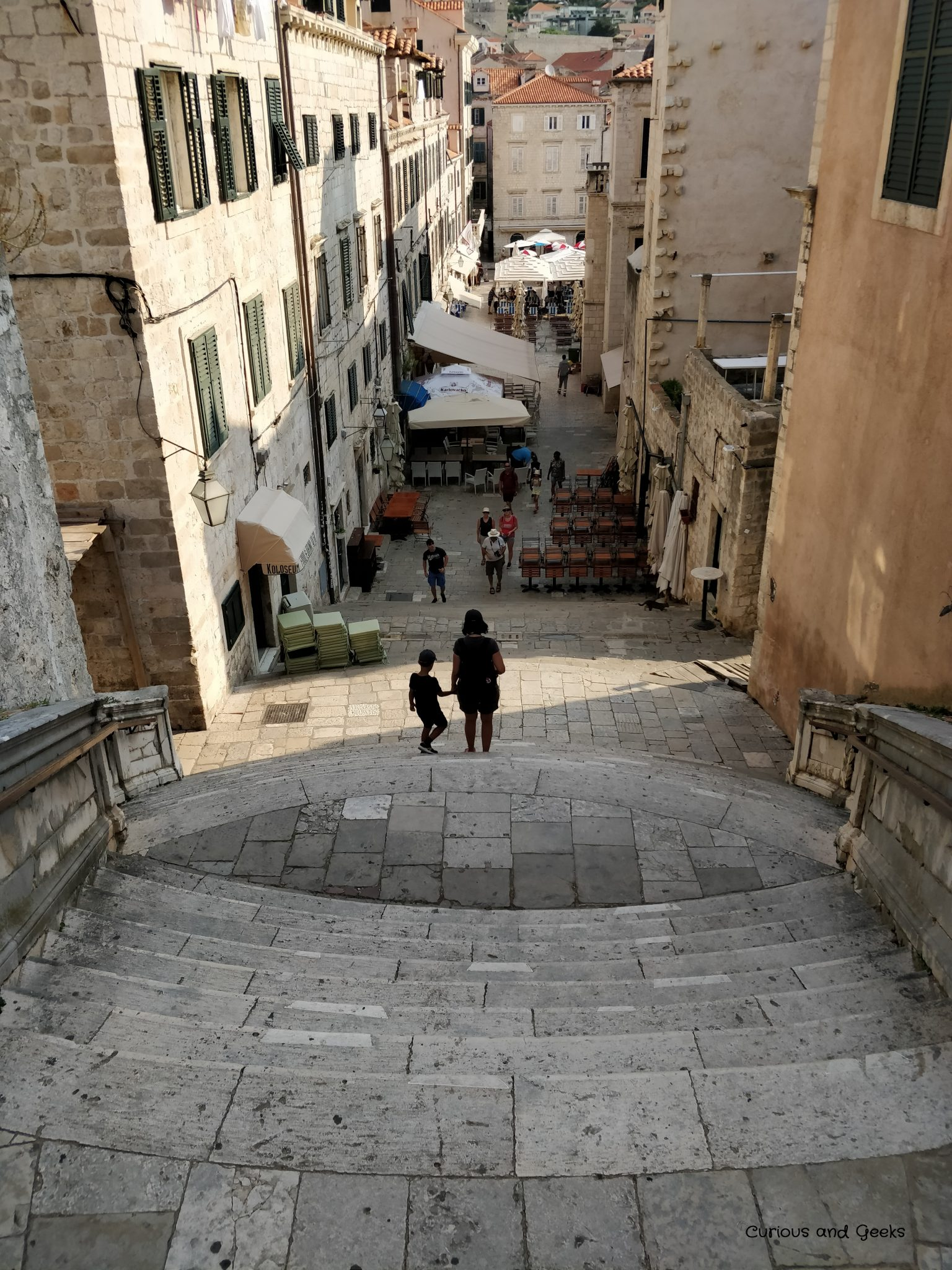 The Jesuit Staircase in Dubrovnik Old Town - filming location for s05e10 of Game of Thrones