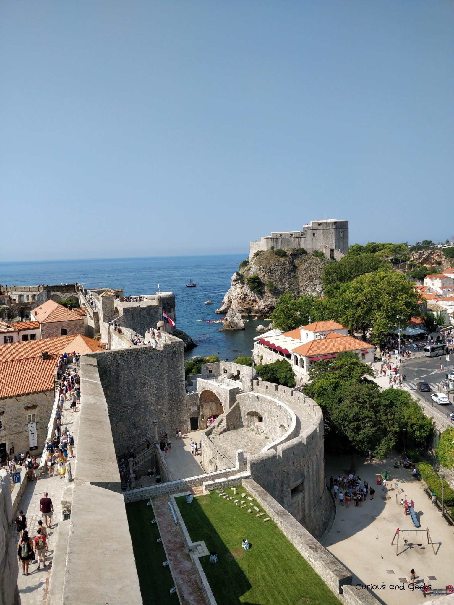 View from the city walls in Dubrovnik - filming location for s04e07 of Game of Thrones