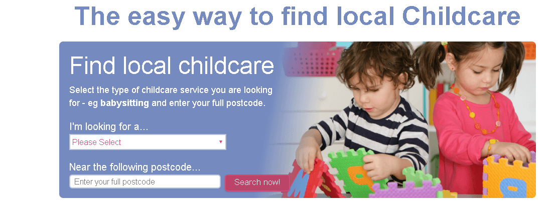 Header of childcare website