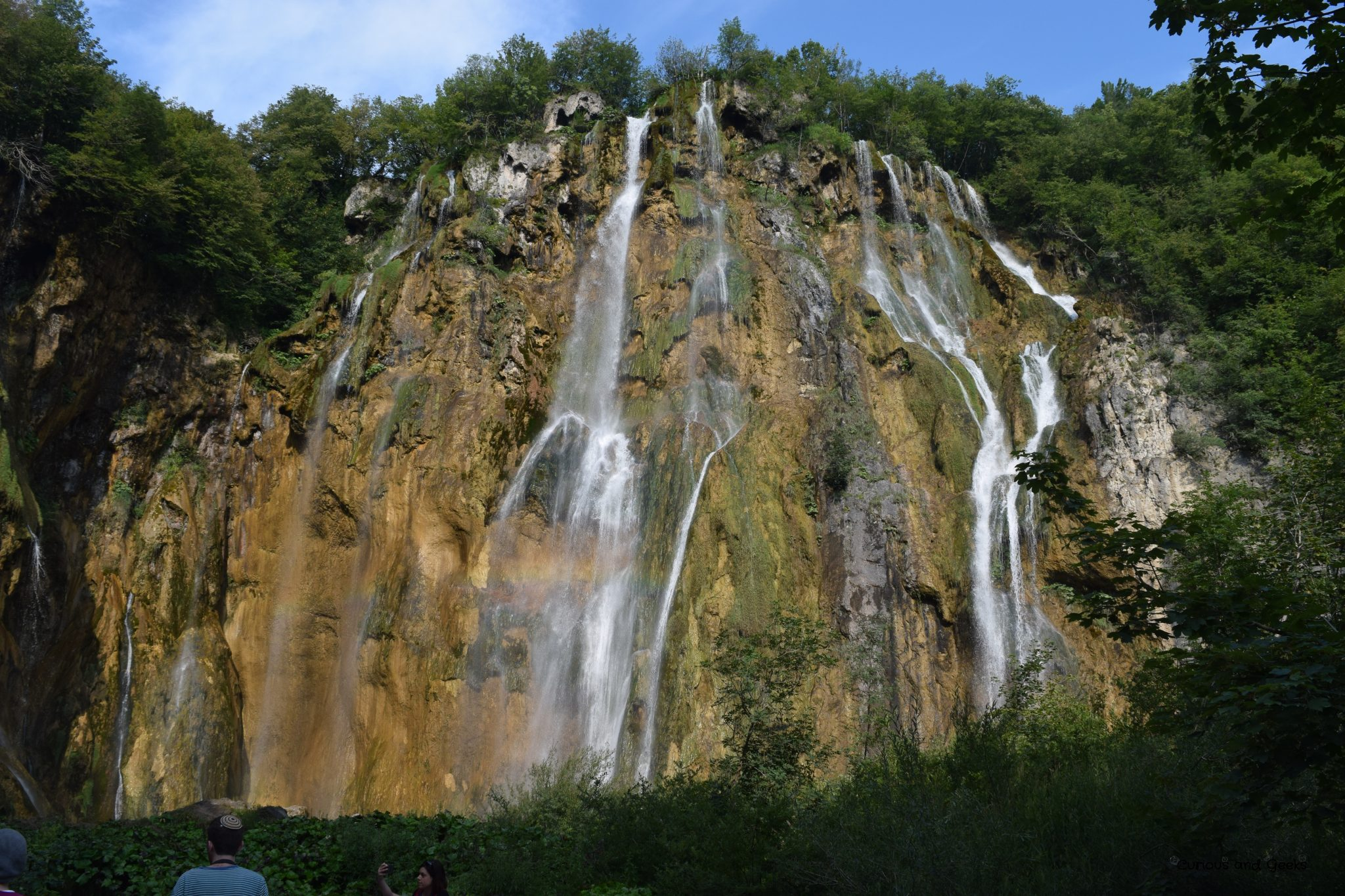 The big waterfall in Plitvice