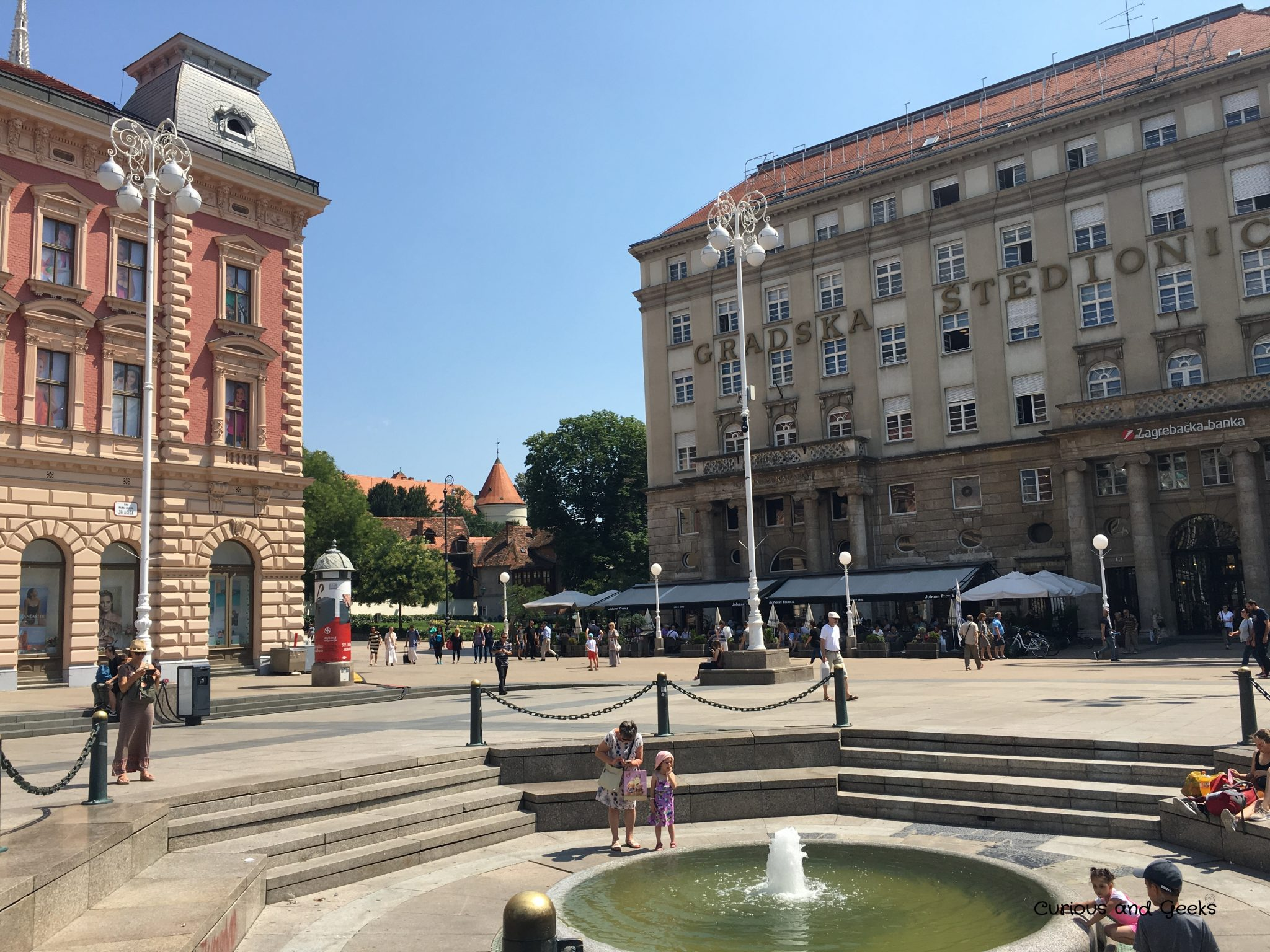 Zagreb - A fontain in the main square