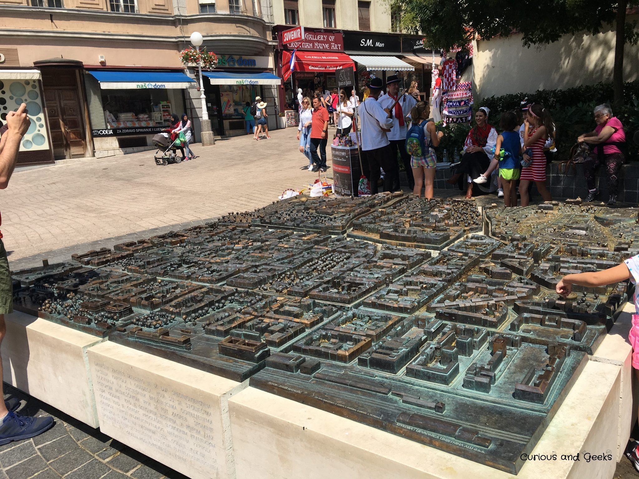 Zagreb - Model of Zagreb City in Bronze