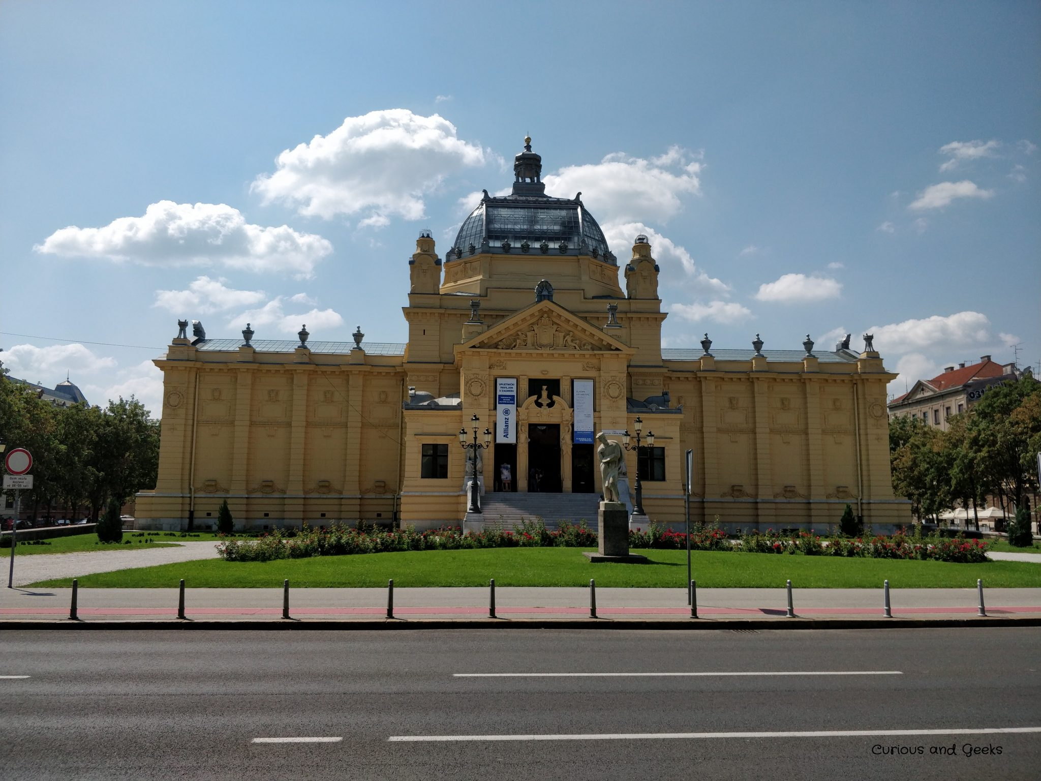 Zagreb - The Art Pavilion, marking the northern end of King Tomislav Square