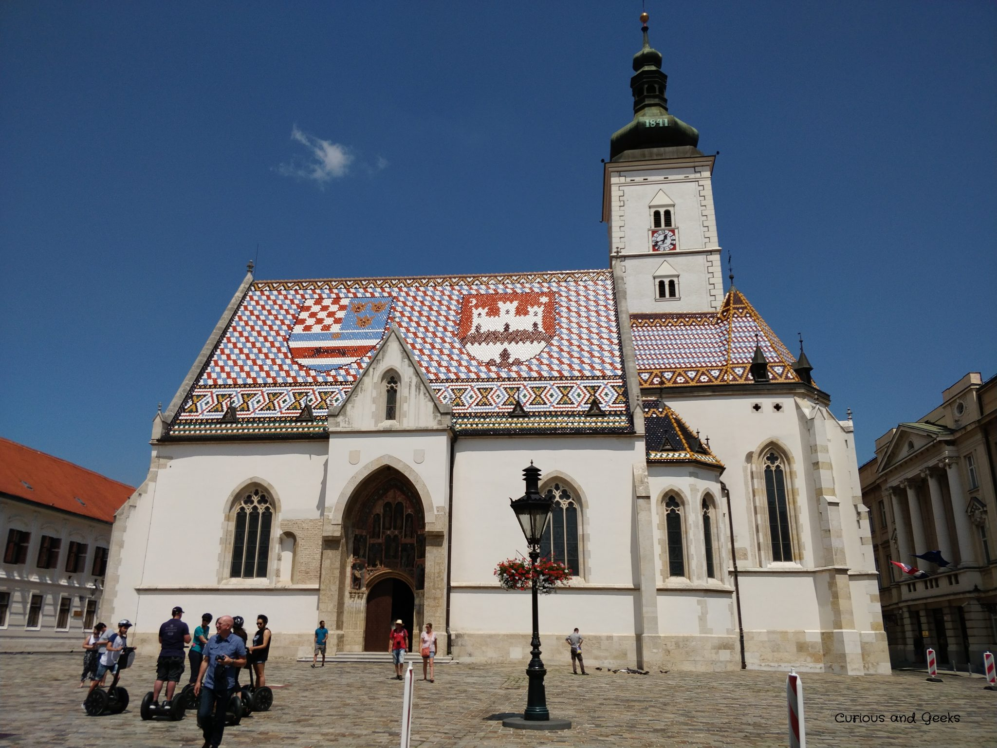 Zagreb - St Mark's church and its colorful roof