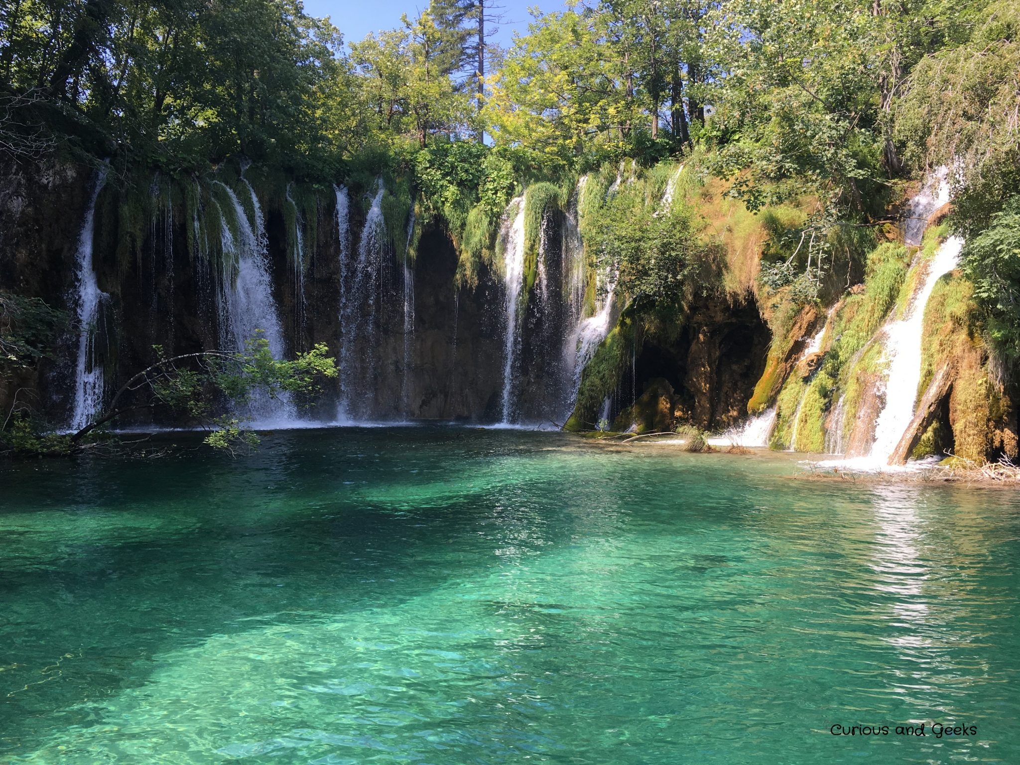 a waterfall in plitvice - Road trip in Croatia with kids