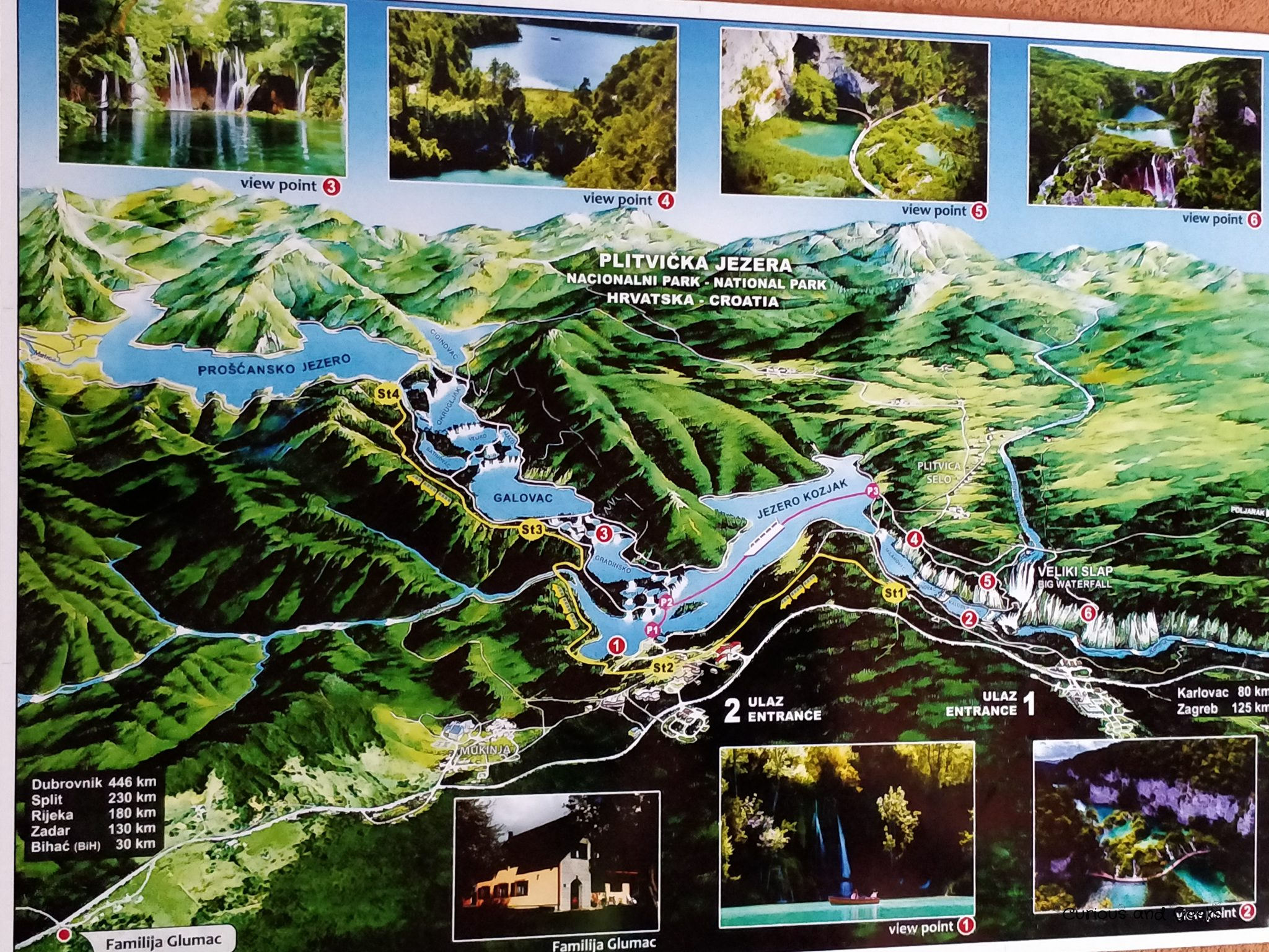 map of plitvice - Road trip in Croatia with kids