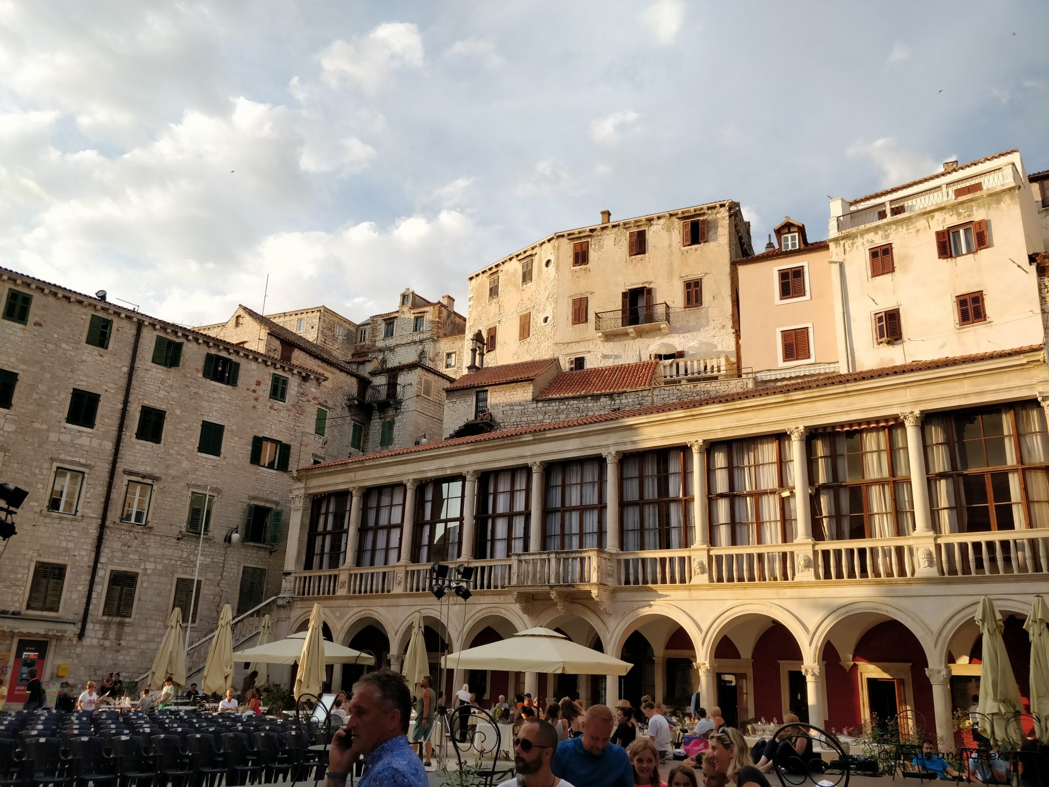 sibenik's town hall - Road trip in Croatia with kids