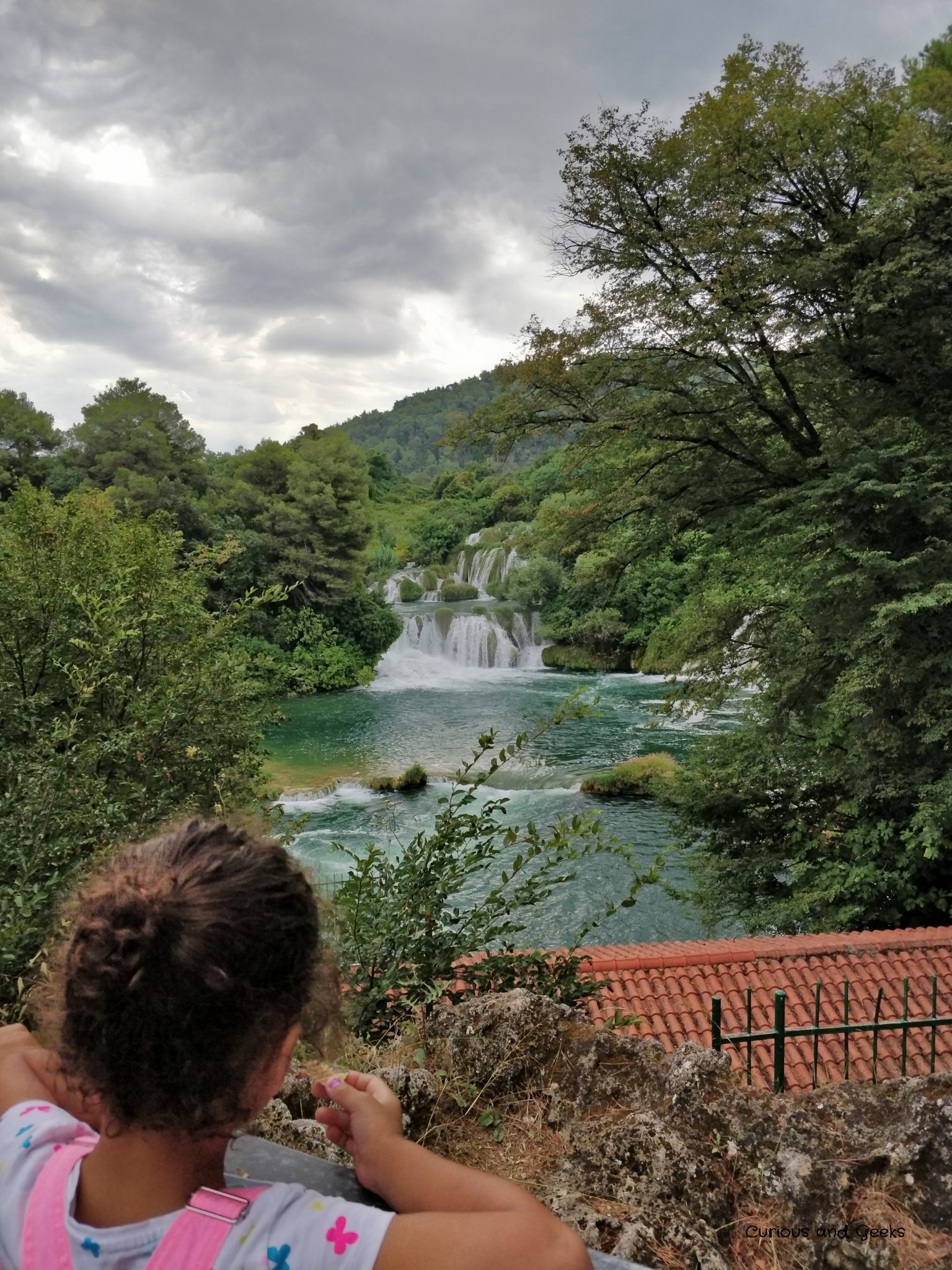 view from krka s trail - Road trip in Croatia with kids