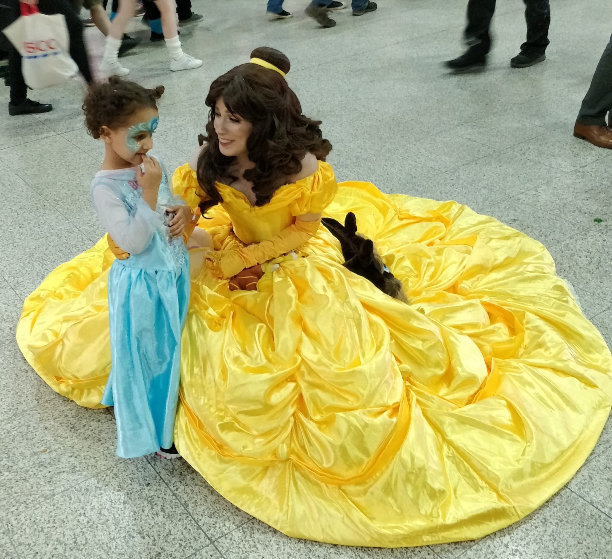 Meeting a Disney Princess can be daunting
