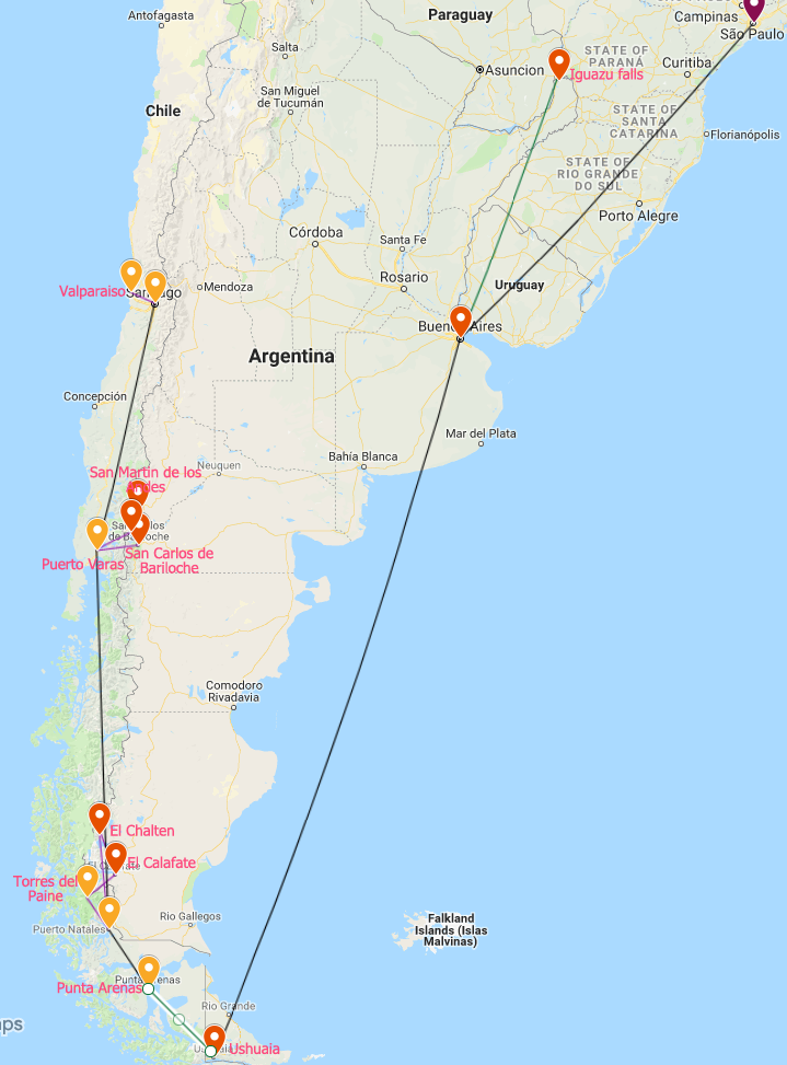 Argentina and Chile Itinerary - Our one month Argentina and Chile itinerary