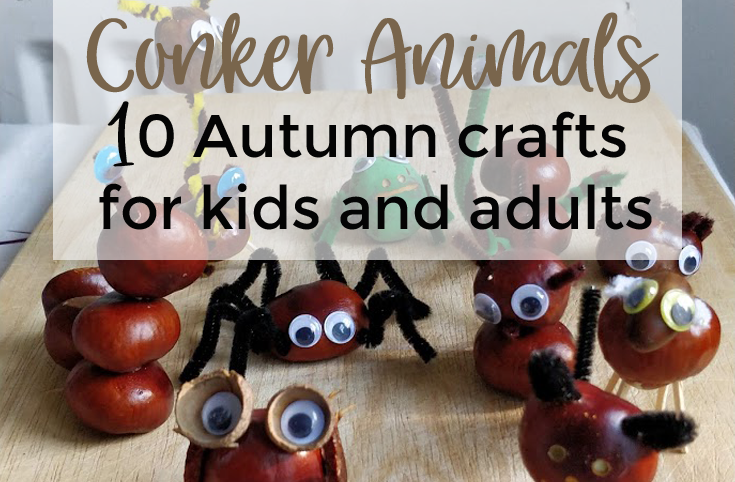 Conker animals featured image 735x482 - 10 DIY conkers animals: Autumn crafts for kids