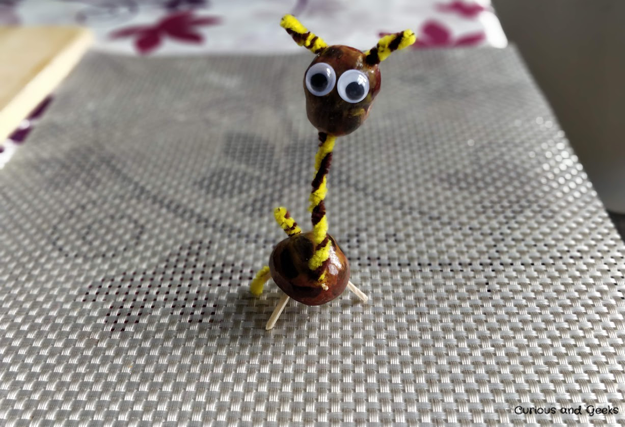 Autumn crafts for kids and adults: Girafe