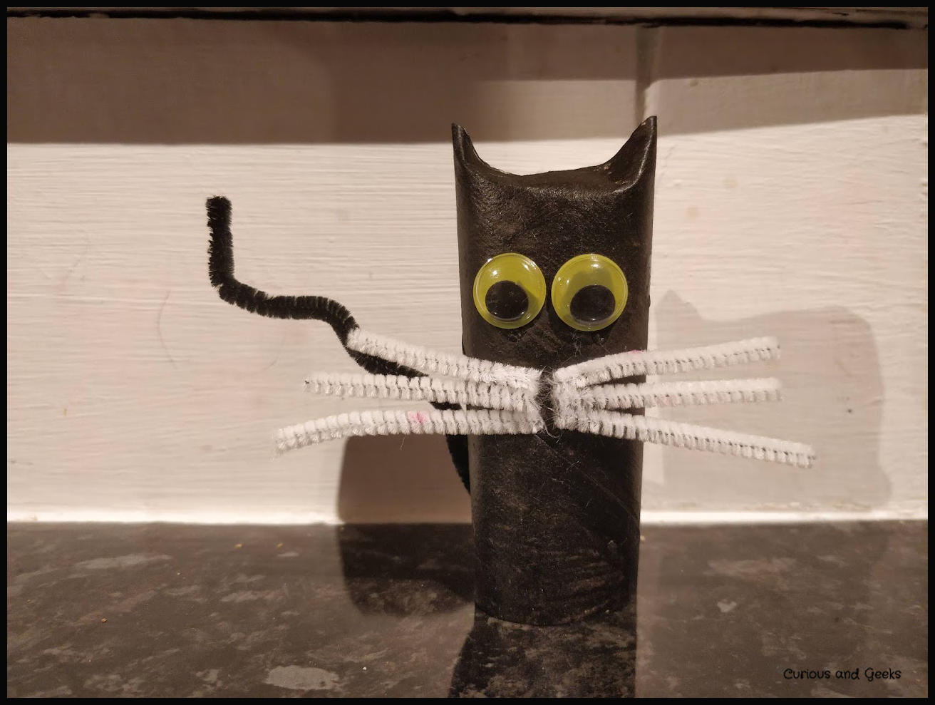 The black cat - easy Halloween craft