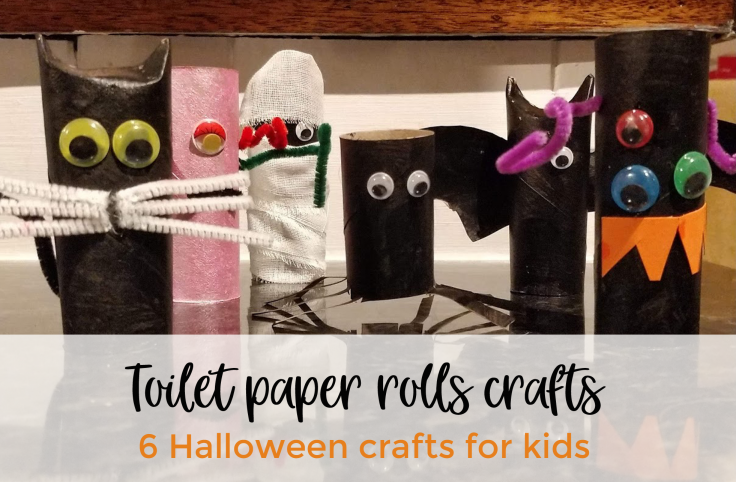 Toilet papers rolls craft - 6 Halloween crafts for kids