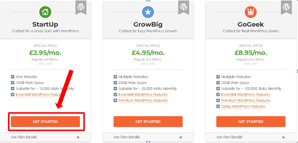 SiteGround wordpress plans - How to start a blog