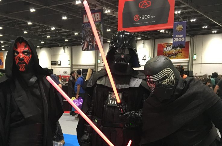 Darth Vader, Kylo Ren and Darth Maul at the MCM London Comic Con