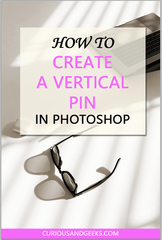 Vertical pin created in photoshop