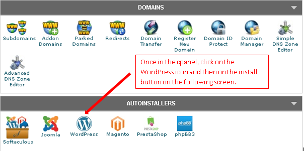 Wordpress autoinstall - How to start a blog