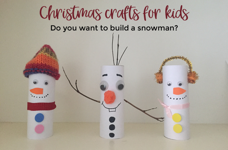 Christmas Crafts for Kids - let's build a snowman