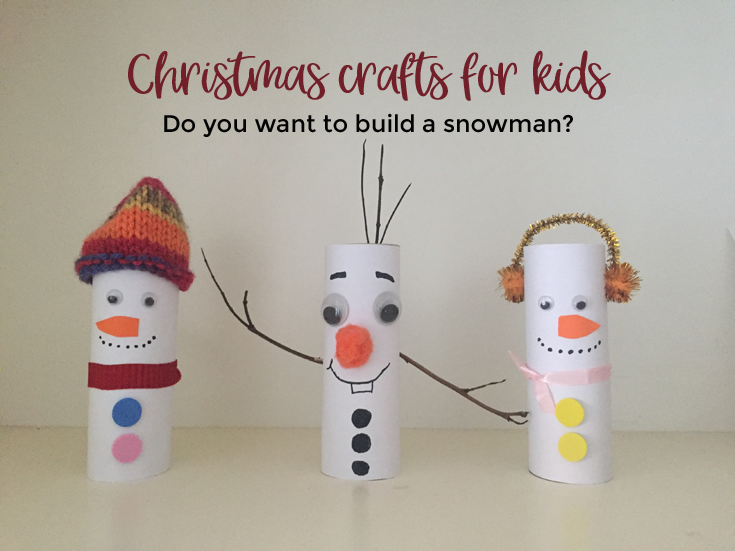 Christmas Crafts For Kids.Snowman Toilet Paper Roll Crafts Christmas Crafts For Kids