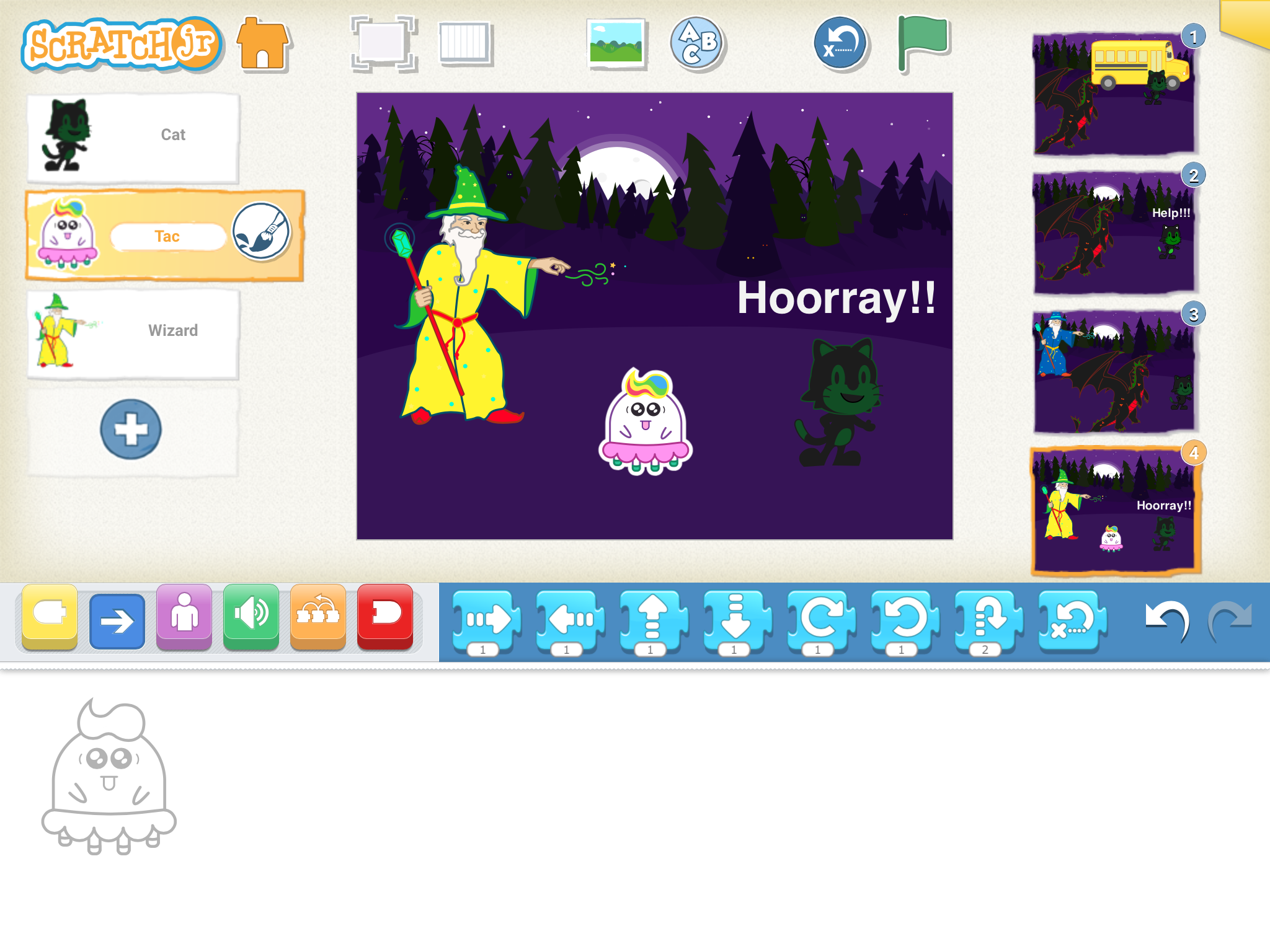 Coding Apps For Kids Scratch JR blocks 1 - Best Coding Apps for Kids under 8 to Learn Programming