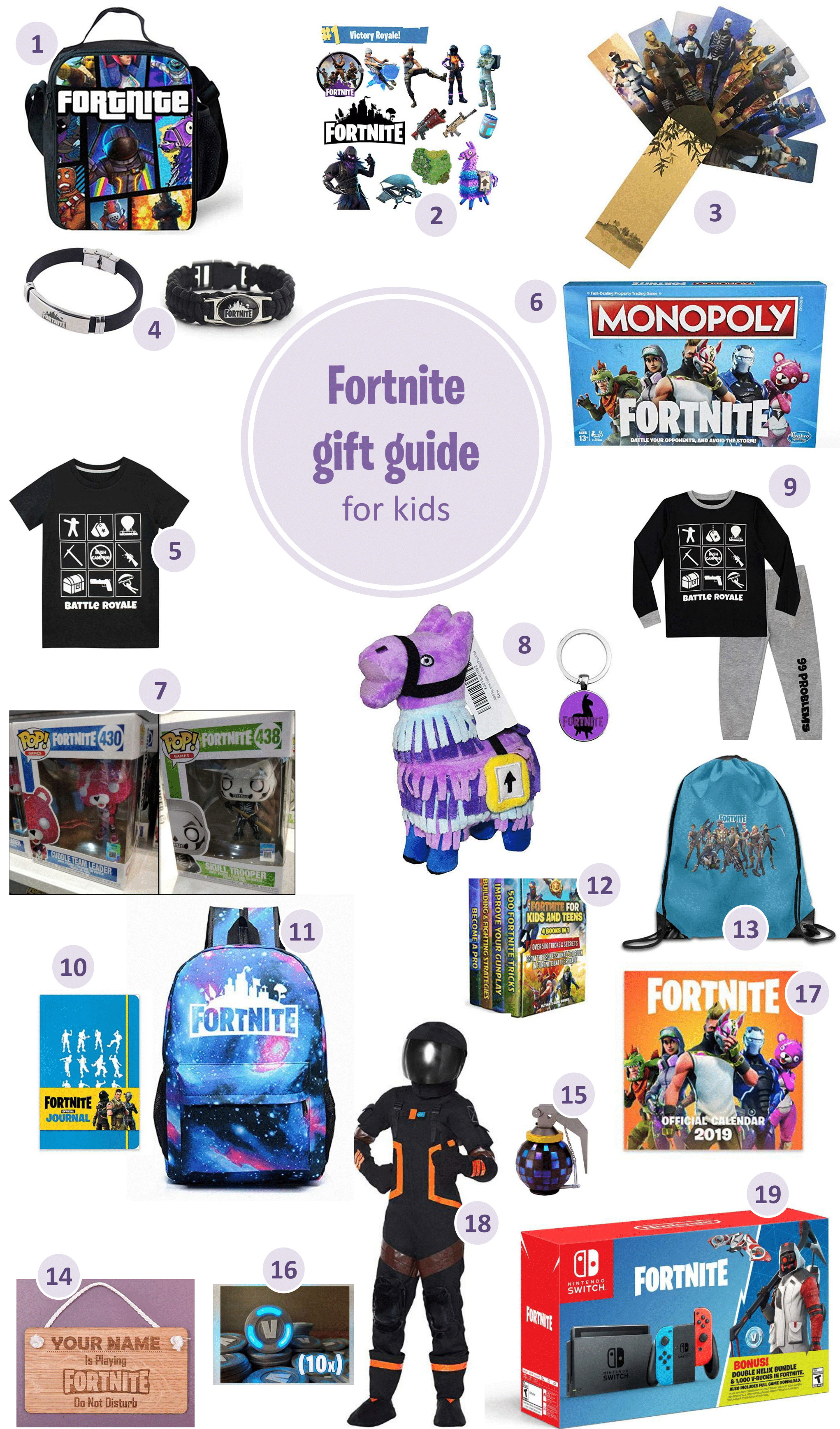 Fornite gifts for kids a gift guide for the Fornite fan - Epic Fortnite gifts for kids - 25 gift ideas for Fortnite lovers