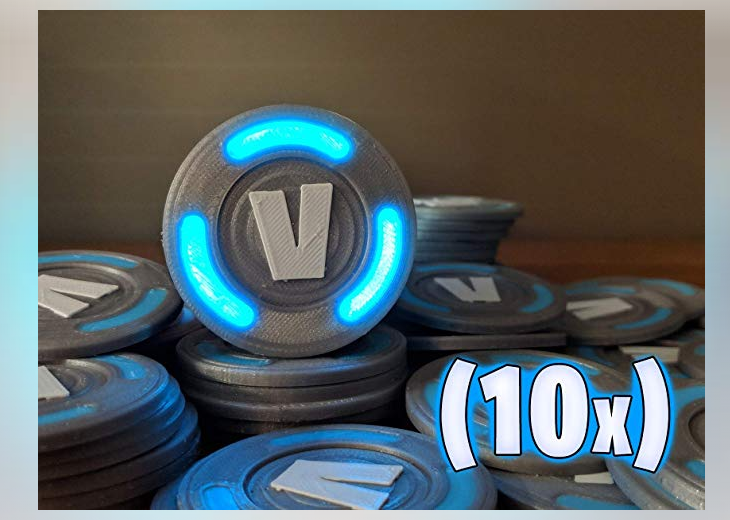Fortnite glowing v bucks - Epic Fortnite gifts for kids - 25 gift ideas for Fortnite lovers