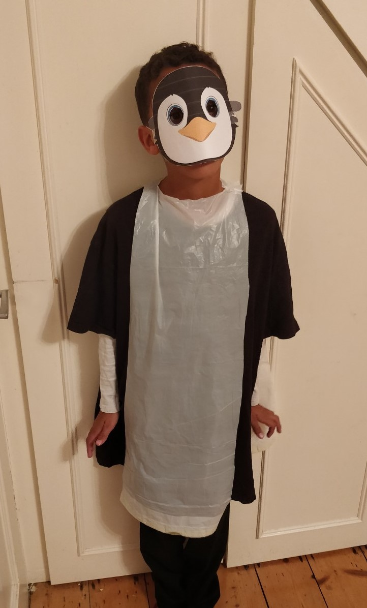 Last minute Halloween costume quick and easy the Penguin 1 - Quick and easy last minute Halloween costumes for kids