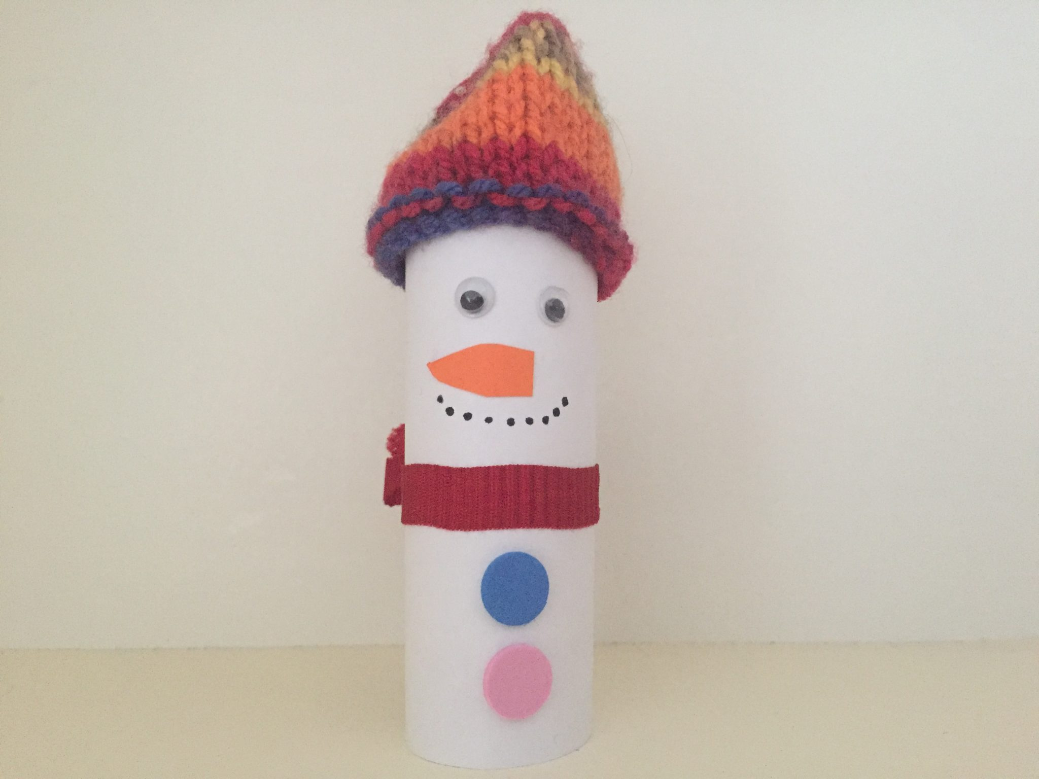 Christmas-crafts-for-kids-Snowman-with-a-woolly-hat