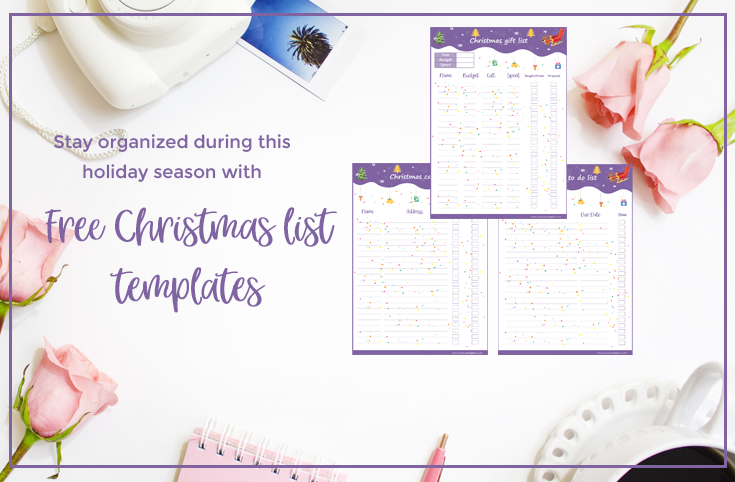 Christmas List Templates - grab these free printables