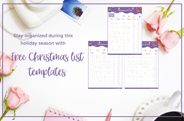Free Christmas List Templates An Excel Version Curious And Geeks