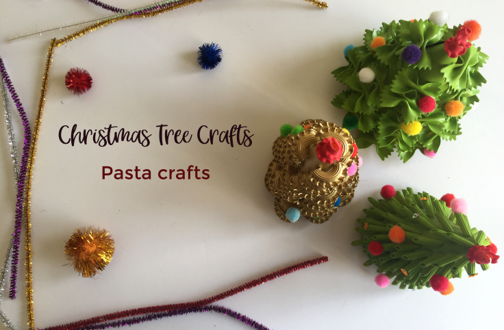 Christmas Tree Crafts - Pasta crafts