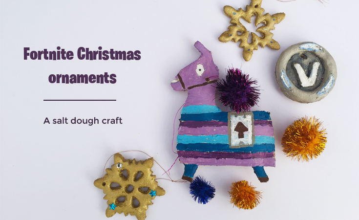 Fortnite Christmas ornaments - A salt dough craft