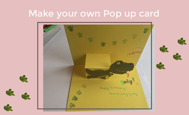 How to make a pop up card - Create your own Dinosaur birthday card