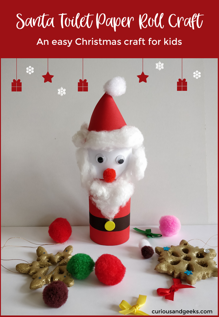Santa Toilet Paper roll craft - Santa toilet paper roll craft
