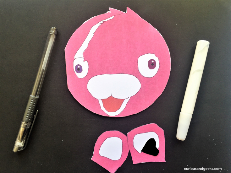 Cuddle Team Leader Valentines card for kids - Step 3 Cutting out the shapes