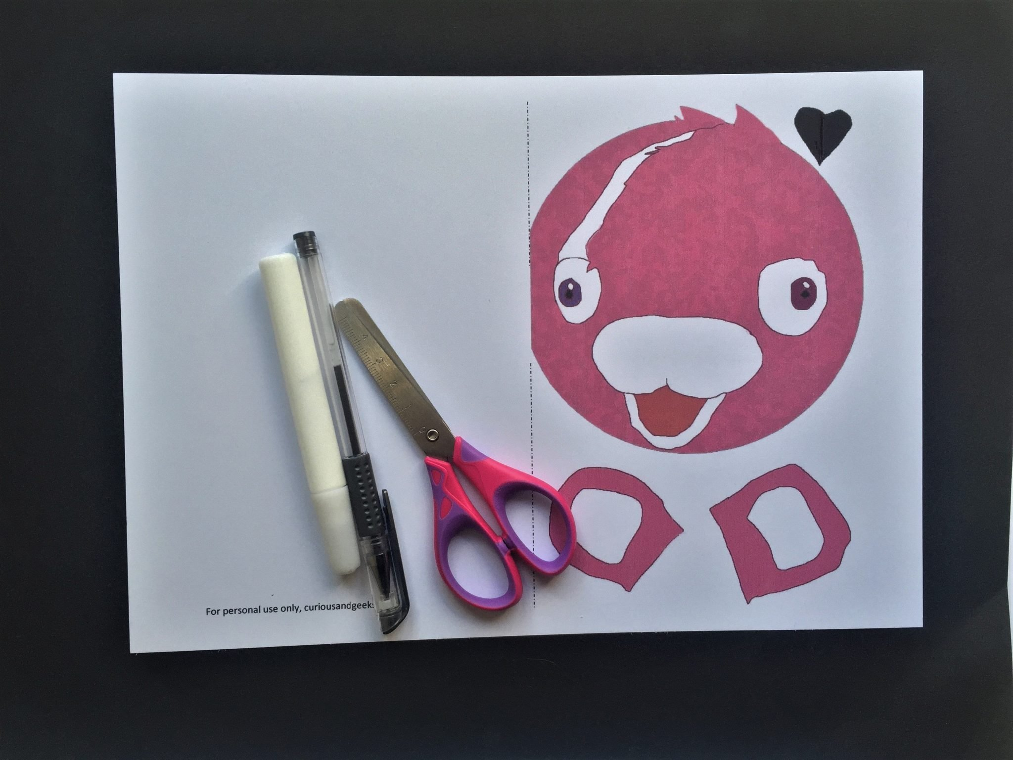 Cuddle Team Leader Valentines card for kids - what you will need