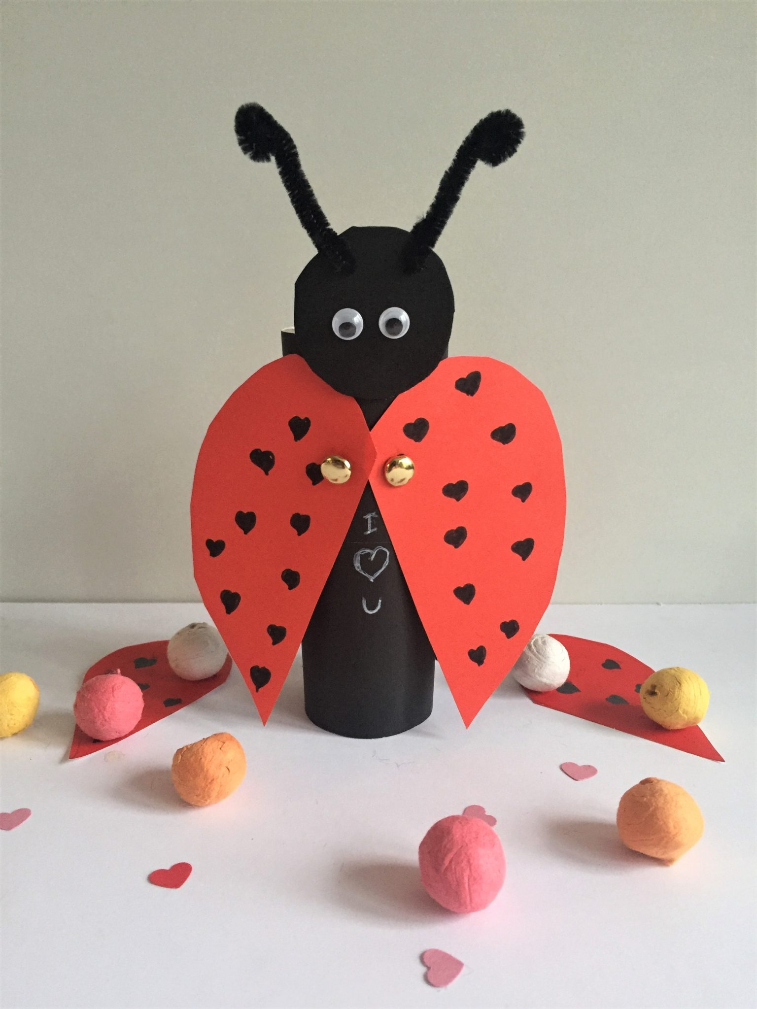 Toilet Paper Roll Ladybug Craft for Kids