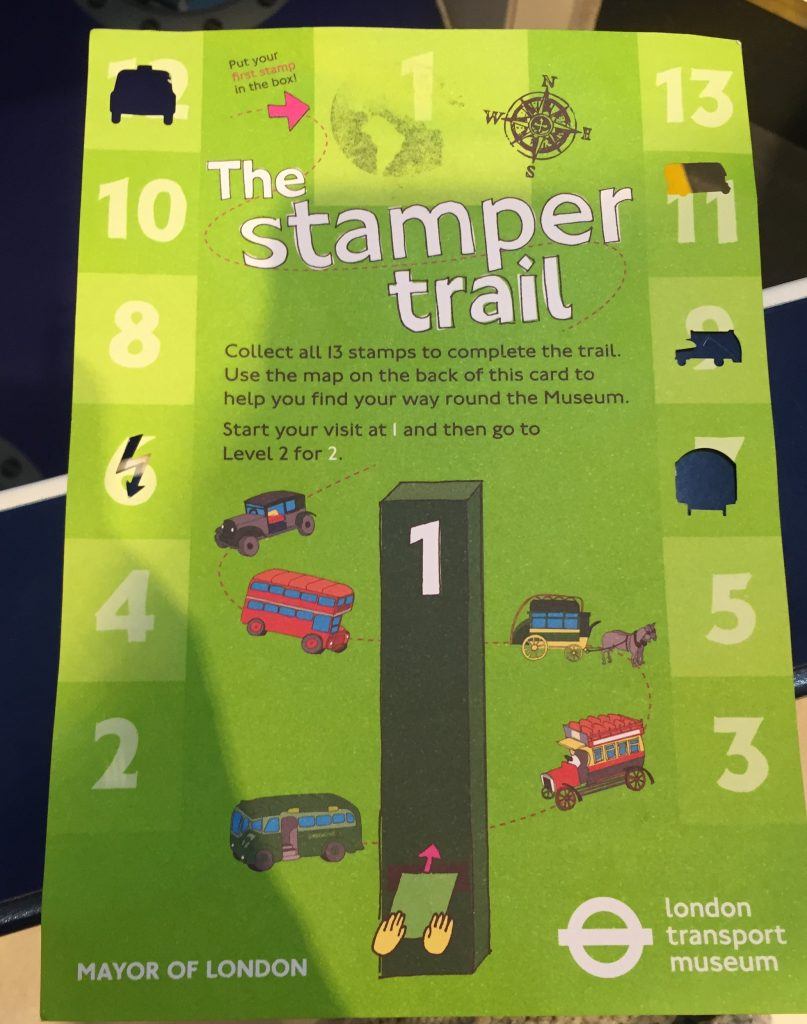 London Transport Museum - The Free stamper trail