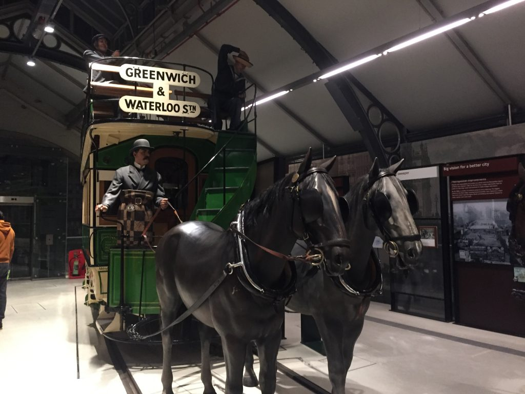 London Transport Museum - Third floor horse-drawn omnibus