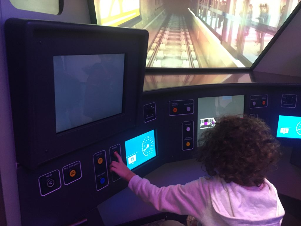 London Transport Museum - Picture showing the train simulator