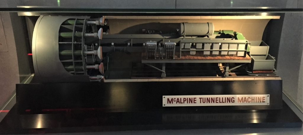 London Transport Museum - Tunnelling Machine