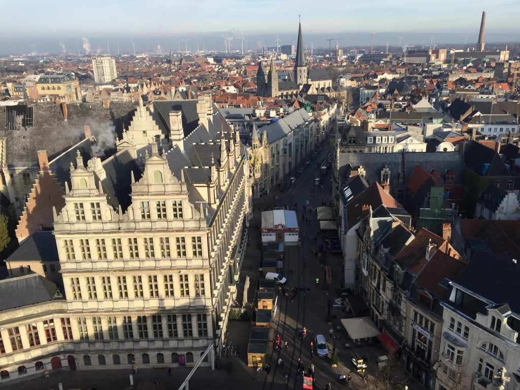 Visiting Ghent, Belgium -  View from the Belfy