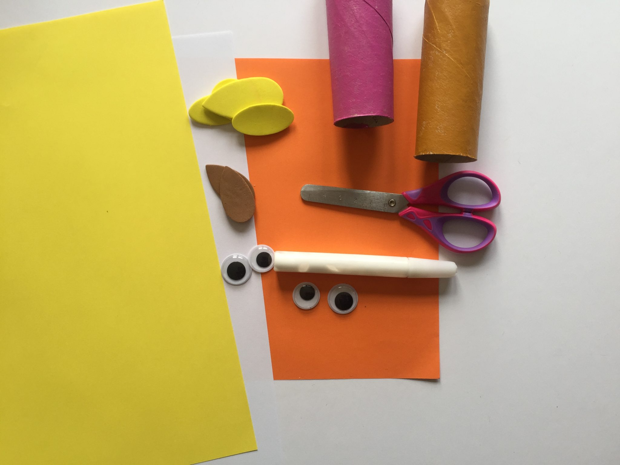 Toilet Paper Roll owls Craft for Kids- what you will need