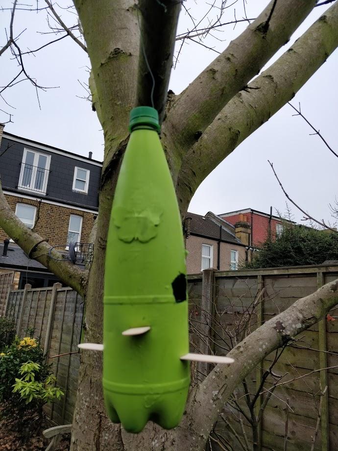 DIY Bird feeders from plastic bottles