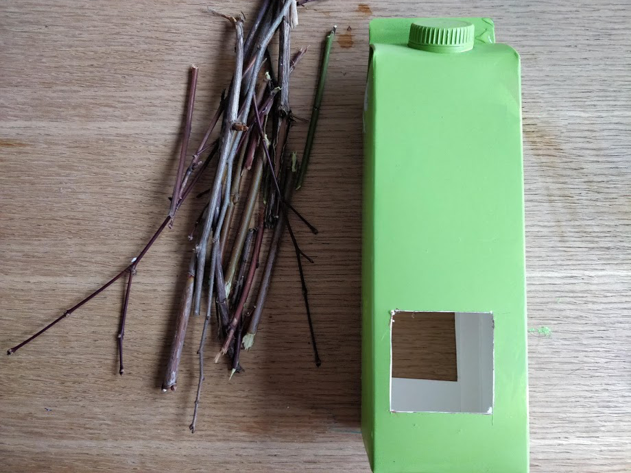 Easy DIY Bird Feeders from recycled materials - Step 4 decorating the bird feeder